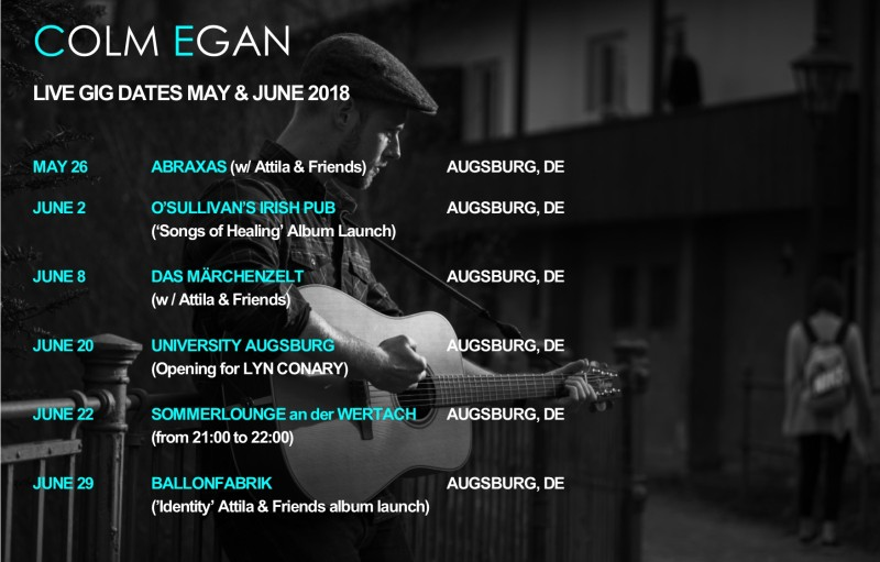 Gigs may and June 2018